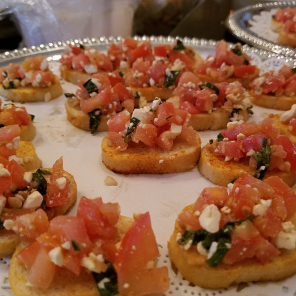 Bruschetta with Feta on Crostini 1
