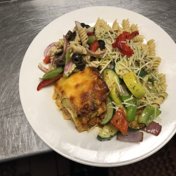 Lasagna_SauteedVegetables_ItalianPastaSalad_PestoPasta